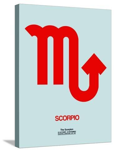 Scorpio Zodiac Sign Red-NaxArt-Stretched Canvas Print