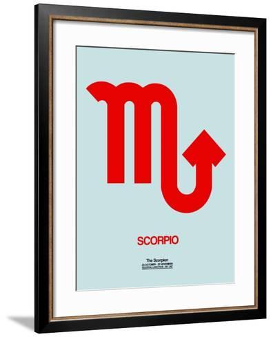Scorpio Zodiac Sign Red-NaxArt-Framed Art Print