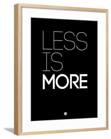Less Is More Black-NaxArt-Framed Art Print