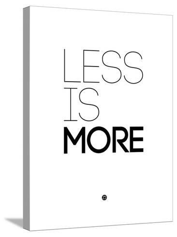 Less Is More White-NaxArt-Stretched Canvas Print