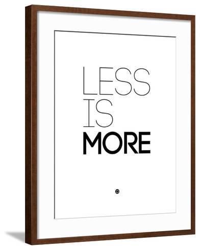 Less Is More White-NaxArt-Framed Art Print