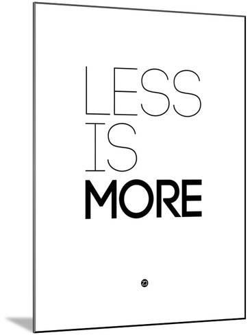 Less Is More White-NaxArt-Mounted Art Print
