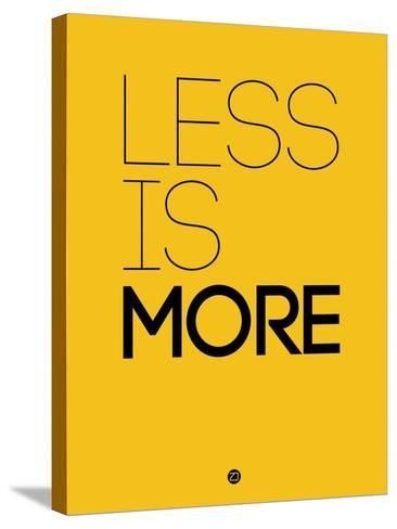 Less Is More Yellow-NaxArt-Stretched Canvas Print