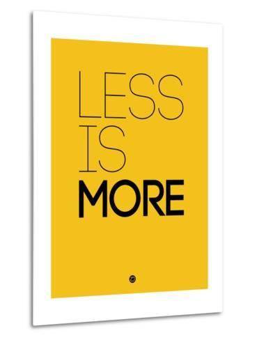Less Is More Yellow-NaxArt-Metal Print