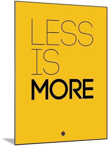 Less Is More Yellow-NaxArt-Mounted Art Print