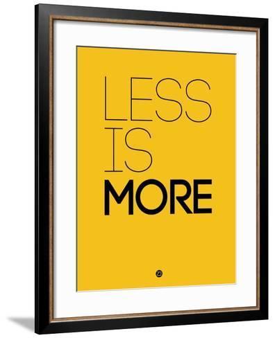 Less Is More Yellow-NaxArt-Framed Art Print