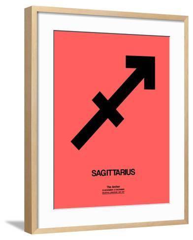 Sagittarius Zodiac Sign Black-NaxArt-Framed Art Print