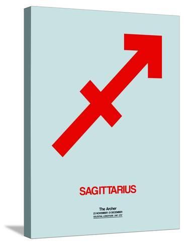 Sagittarius Zodiac Sign Red-NaxArt-Stretched Canvas Print