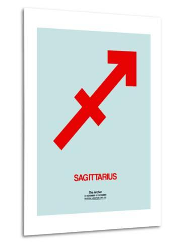 Sagittarius Zodiac Sign Red-NaxArt-Metal Print