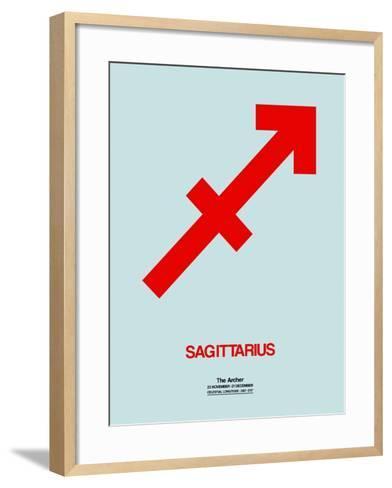 Sagittarius Zodiac Sign Red-NaxArt-Framed Art Print
