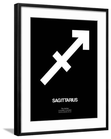 Sagittarius Zodiac Sign White-NaxArt-Framed Art Print