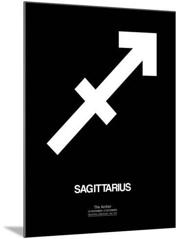 Sagittarius Zodiac Sign White-NaxArt-Mounted Art Print
