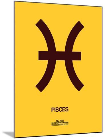 Pisces Zodiac Sign Brown-NaxArt-Mounted Art Print