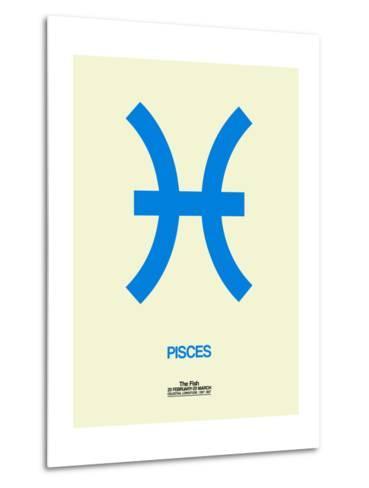 Pisces Zodiac Sign Blue-NaxArt-Metal Print