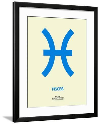 Pisces Zodiac Sign Blue-NaxArt-Framed Art Print