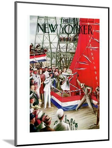 The New Yorker Cover - May 31, 1941-Constantin Alajalov-Mounted Premium Giclee Print