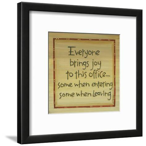 Everyone Brings Joy-Karen Tribett-Framed Art Print