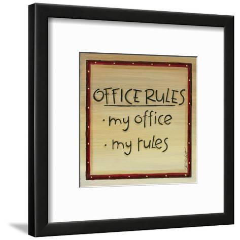 Office Rules-Karen Tribett-Framed Art Print