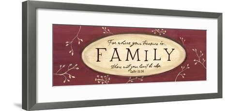 Treasure Is Family-Karen Tribett-Framed Art Print