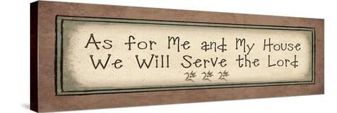 Serve the Lord-Jo Moulton-Stretched Canvas Print