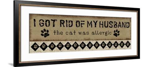 Allergic Husband-Jennifer Pugh-Framed Art Print