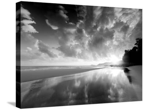 Sunset Beach-Dennis Frates-Stretched Canvas Print