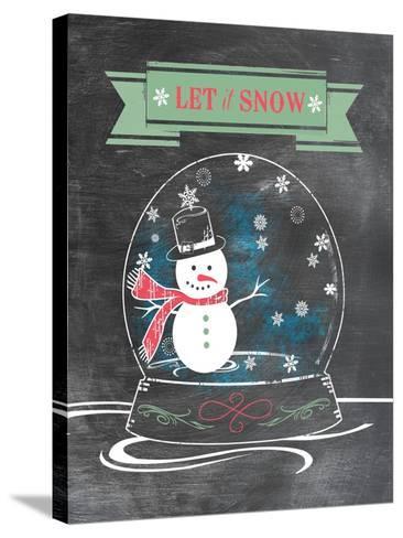 Let it Snow (Green)--Stretched Canvas Print