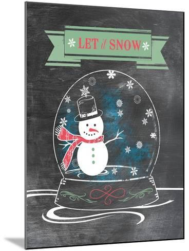 Let it Snow (Green)--Mounted Art Print