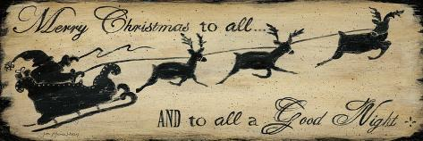 Merry Christmas to All-Jo Moulton-Stretched Canvas Print
