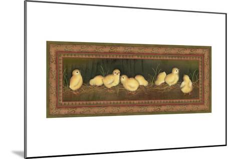 Eight Chicks-Kim Lewis-Mounted Art Print