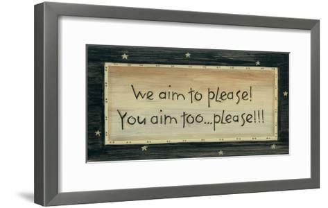We Aim to Please-Karen Tribett-Framed Art Print