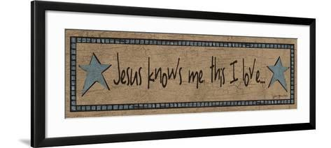 Jesus Knows Me, This I Love-Jo Moulton-Framed Art Print