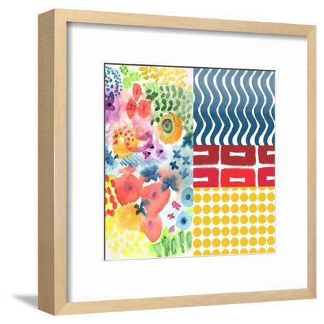 Patchwork I-Linda Woods-Framed Art Print