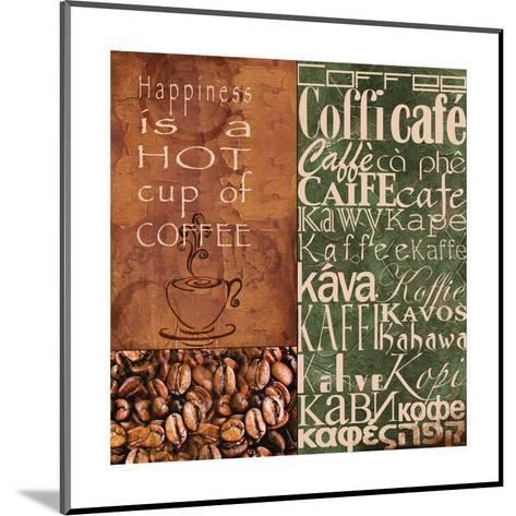 Coffee in Any Language-Lisa Wolk-Mounted Art Print