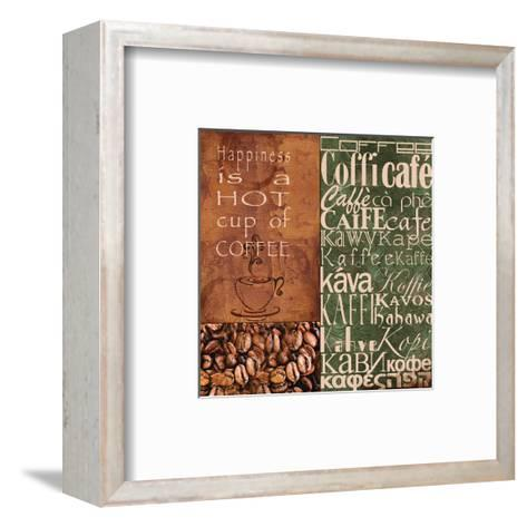 Coffee in Any Language-Lisa Wolk-Framed Art Print