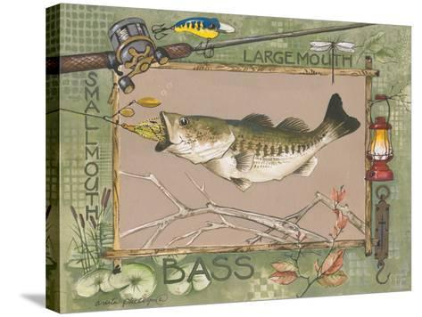 Large Mouth Bass-Anita Phillips-Stretched Canvas Print