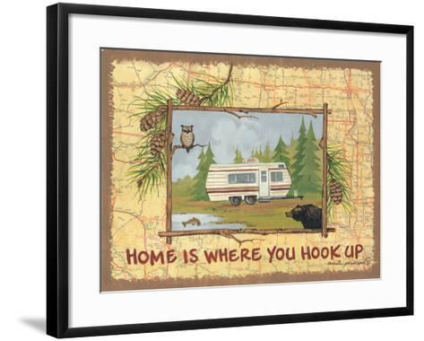 Home Is Where You Hook Up-Anita Phillips-Framed Art Print