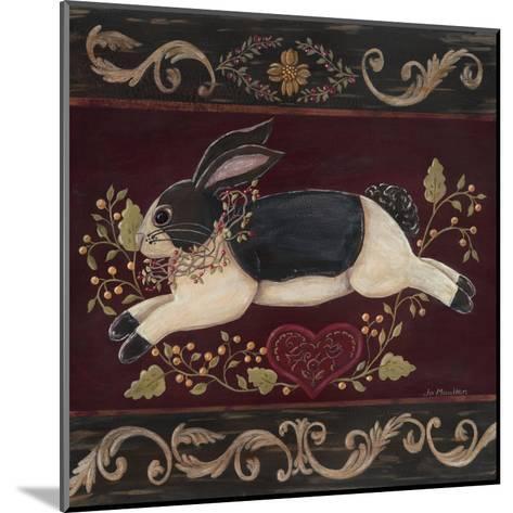 Folk Bunny II-Jo Moulton-Mounted Art Print