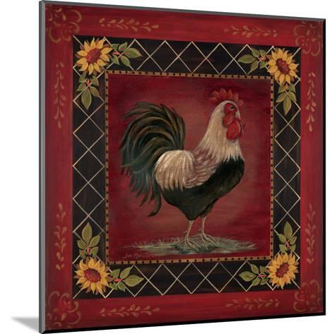 Sunflower Rooster I-Jo Moulton-Mounted Art Print