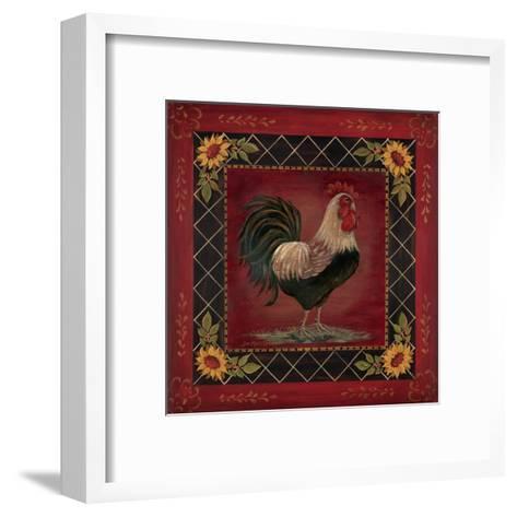 Sunflower Rooster I-Jo Moulton-Framed Art Print