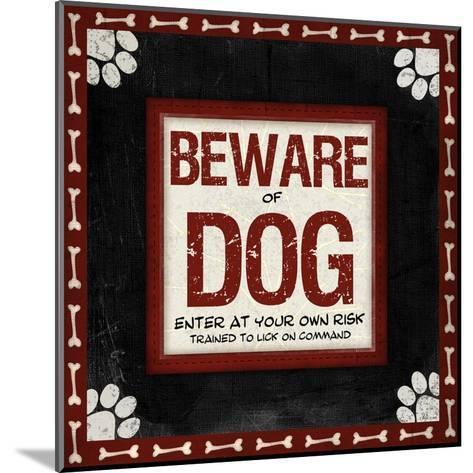 Beware of Dog-Jennifer Pugh-Mounted Art Print