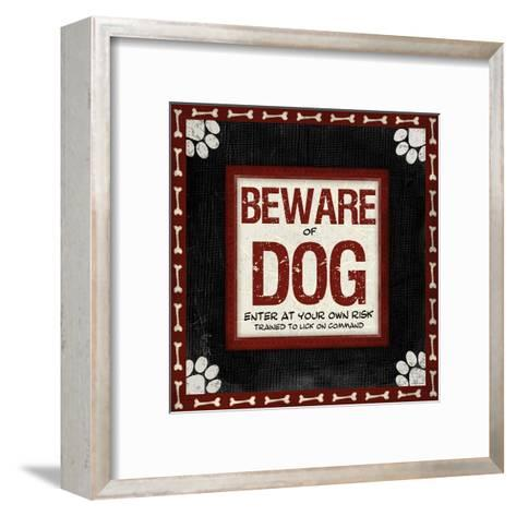 Beware of Dog-Jennifer Pugh-Framed Art Print
