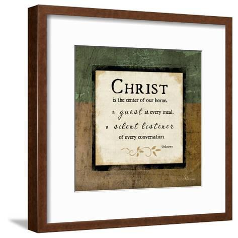 Christ Is the Center of Our Home-Jennifer Pugh-Framed Art Print