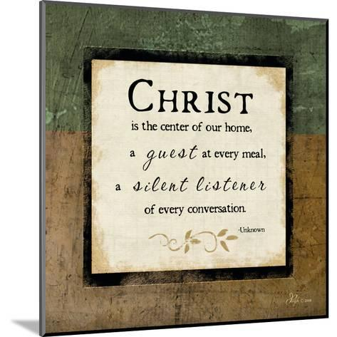 Christ Is the Center of Our Home-Jennifer Pugh-Mounted Art Print
