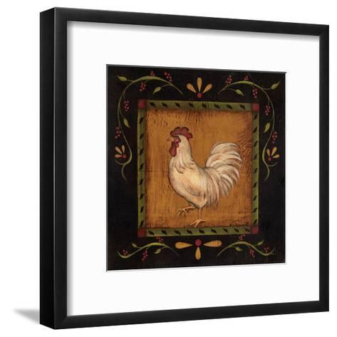Square Rooster Left-Kim Lewis-Framed Art Print