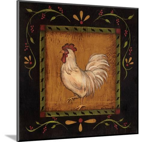 Square Rooster Left-Kim Lewis-Mounted Art Print