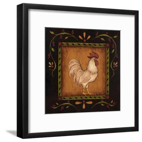 Square Rooster Right-Kim Lewis-Framed Art Print
