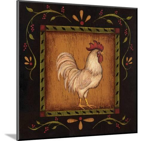 Square Rooster Right-Kim Lewis-Mounted Art Print