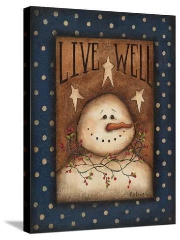 Live Well-Kim Lewis-Stretched Canvas Print