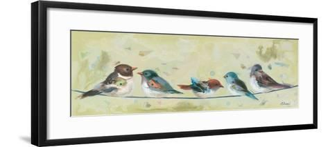 Five on a Wire-Ninalee Irani-Framed Art Print